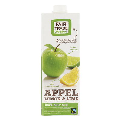 Fairtrade Original Appelsap lemon-lime