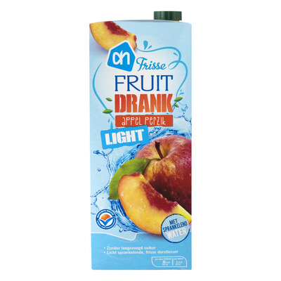 Huismerk Frisse fruitdrank appel-perzik light
