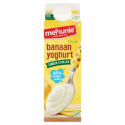 Melkunie Magere Yoghurt Banaan zonder stukjes
