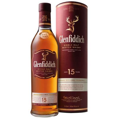 Glenfiddich Single malt Scotch whisky 15 years