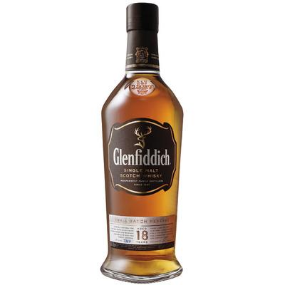 Glenfiddich Single malt Scotch whisky 18 years
