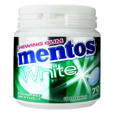 Mentos Gum Bottle white green mint