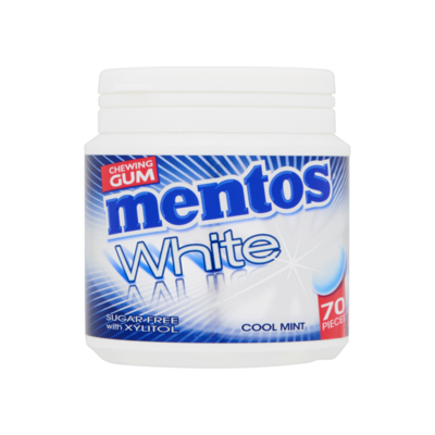 Mentos Gum White Cool Mint Sugar Free 70 Stuks