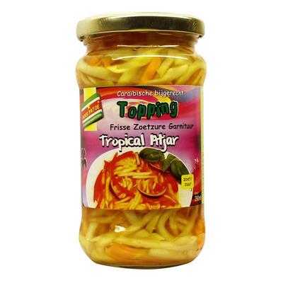 Moksi Patoe Tropical atjar topping