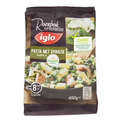 Iglo Roerbaksensatie pasta met spinazie