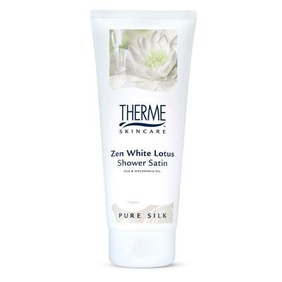 Therme Zen white lotus shower satin