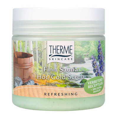 Therme Finn sauna hot cold scrub