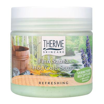 Therme Finn sauna hot cold scrub