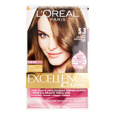 L'Oréal Excellence crème 5.3 licht goudbruin