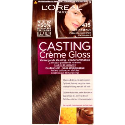 L'Oréal Cast. Crème Gl. 415 IcedChestn/Midden Kastanjebruin