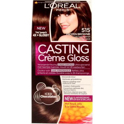 L'Oréal Cast. Crème Gl. 515 FrozenBrown/Licht Kastanjebruin