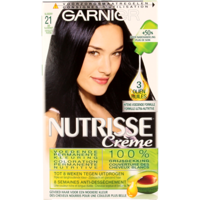 Garnier Nutrisse Crème 21 Diep Blauwzwart
