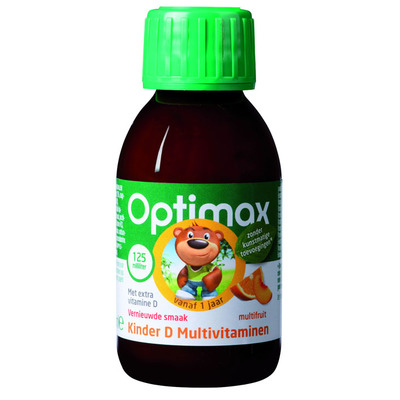 Optimax Kinder multi vloeibaar + vitamine D
