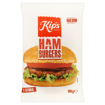 Kips Hamburgers 2 Stuks 160 g