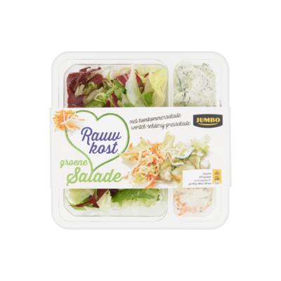 Huismerk Groene Salade Rauwkost met Komkommer Wortel-Selderij-Preisalade