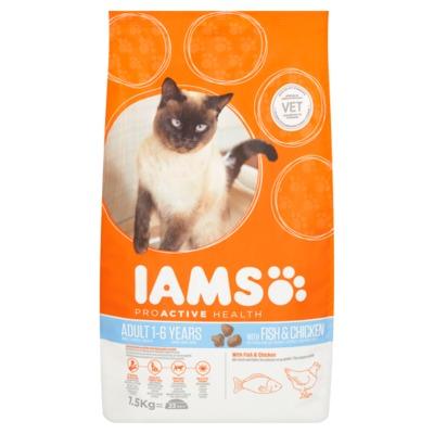 Iams proactive health fish & chicken 1-6 jaar zak 1.5 kilo