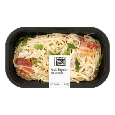 Huismerk Foodmarkt Verse Maaltijd Pasta Linguine met Carbonara
