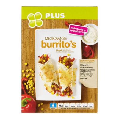 Huismerk Maaltijdpakket Mexicaanse burrito''s