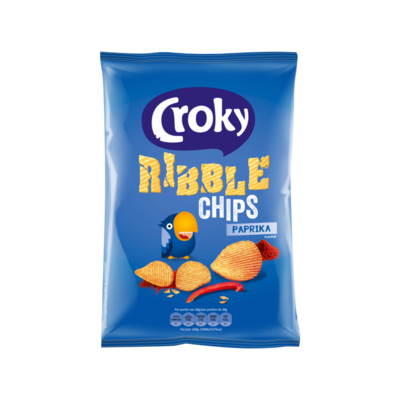 Croky Ribble Chips Paprika Flavour