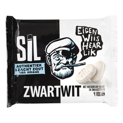 Sil Zwartwit 4-pack