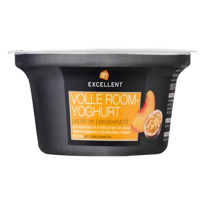 AH Excellent Volle roomyoghurt perzik-passievrucht