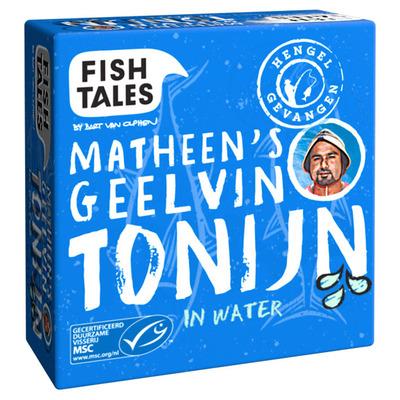 Fish Tales Metheen's geelvin tonijn in water