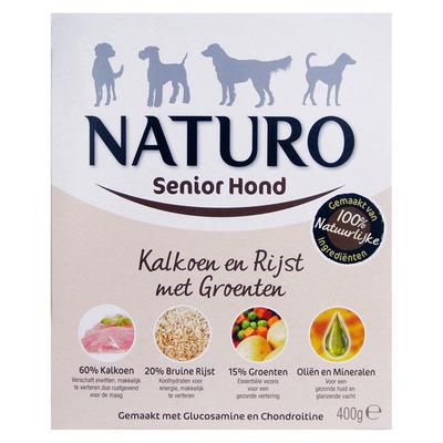 Naturo Kalkoen en rijst voor de senior hond