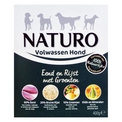 Naturo Eend en rijst voor de hond
