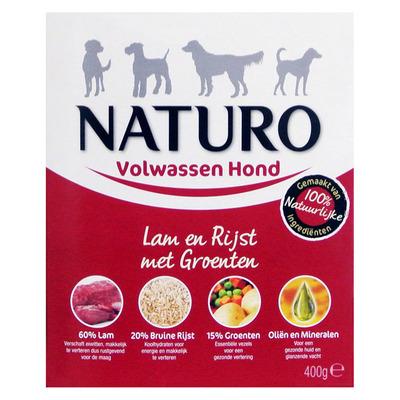 Naturo Lam en rijst voor de hond