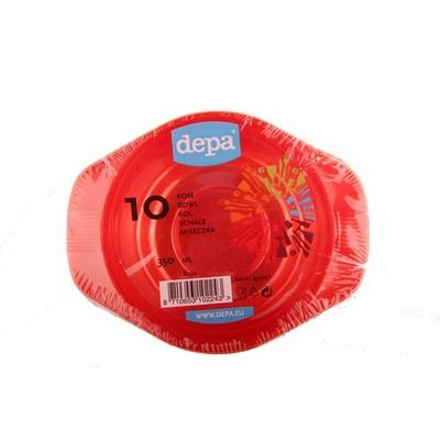 Depa Tafelen Plastic Schaaltje Rood