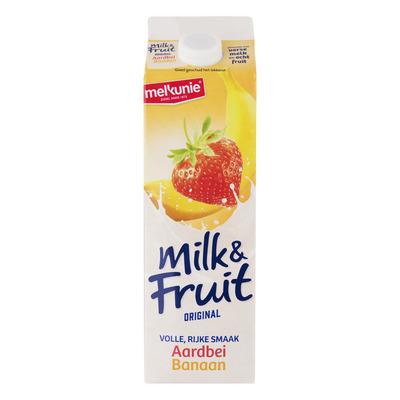 Melkunie Milk & fruit aardbei banaan