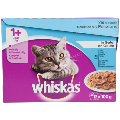 Whiskas Kattenvoer vis selectie in gelei 1+