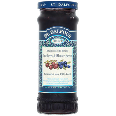 St. Dalfour Fruitspread cranberry & blauwe bes