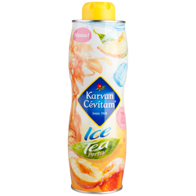 Karvan Cevitam Limonadesiroop ijsthee perzik