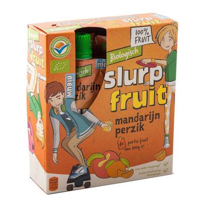 Servero Slurpfruit mandarijn perzik biologisch