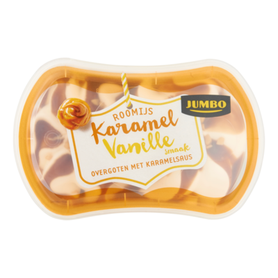 Jumbo Roomijs Karamel Vanille Smaak