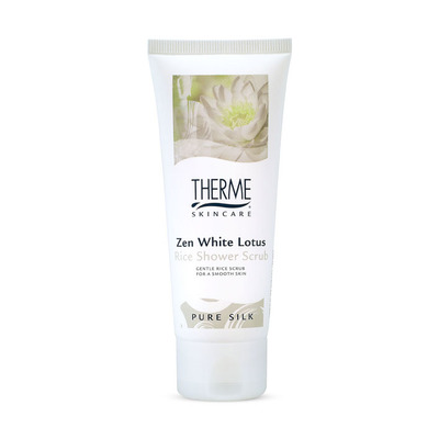 Therme Zen white lotus rice shower scrub