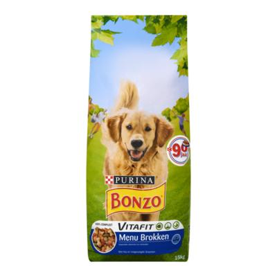 Bonzo Vitafit Menu Brokken met Kip en Toegevoegde Groenten