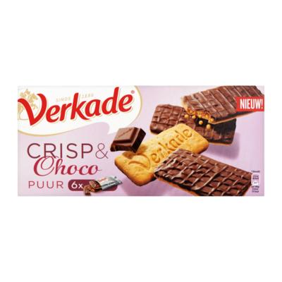 Verkade Crisp & Choco Puur 6 X 2 Stuks
