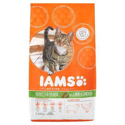 Iams Proactive Health Adult 1-6 Years with Lamb & Chicken 1,5 kg