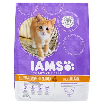 Iams Proactive Health Kitten & Junior 1-12 Months Rich in Chicken 850 g