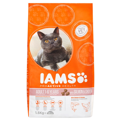 Iams Proactive Health Adult 1-6 Years with Salmon & Chicken 1,5 kg