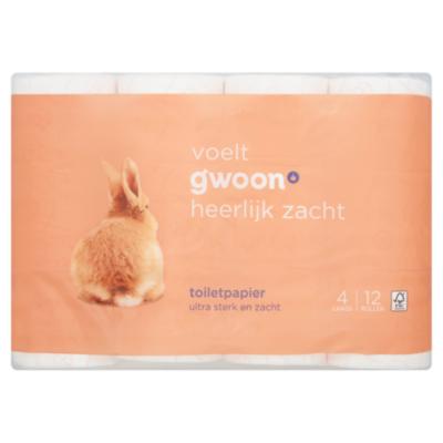 G'woon Toiletpapier 4-laags (PLUS huismerk)