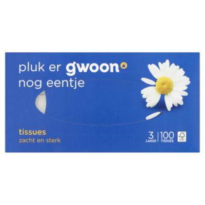 G'woon Tissues 3-laags (PLUS huismerk)
