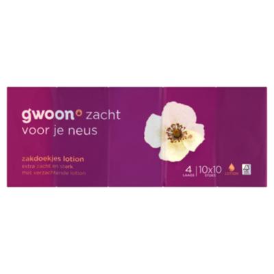 G'woon Zakdoekjes 4-laags lotion