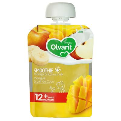 Olvarit Knijpzakje smoothie mango kokos 12+ mnd