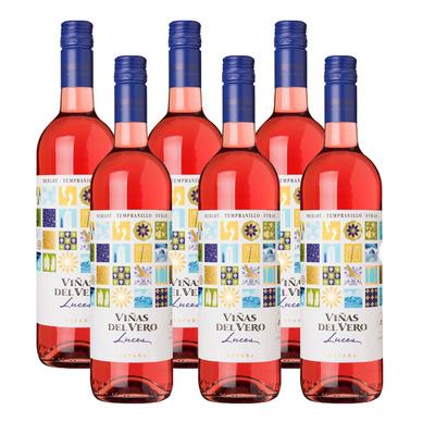 Viñas del Vero 6 x Luces rosado