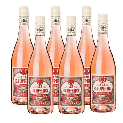Les Dauphins 6 x Côtes du Rhône rosé