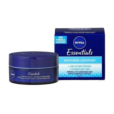 Nivea Essentials Nachtcrème +24H Hydraterend