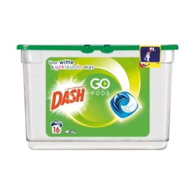 Dash Go pods regular en color wasmiddel 16 wasbeurten